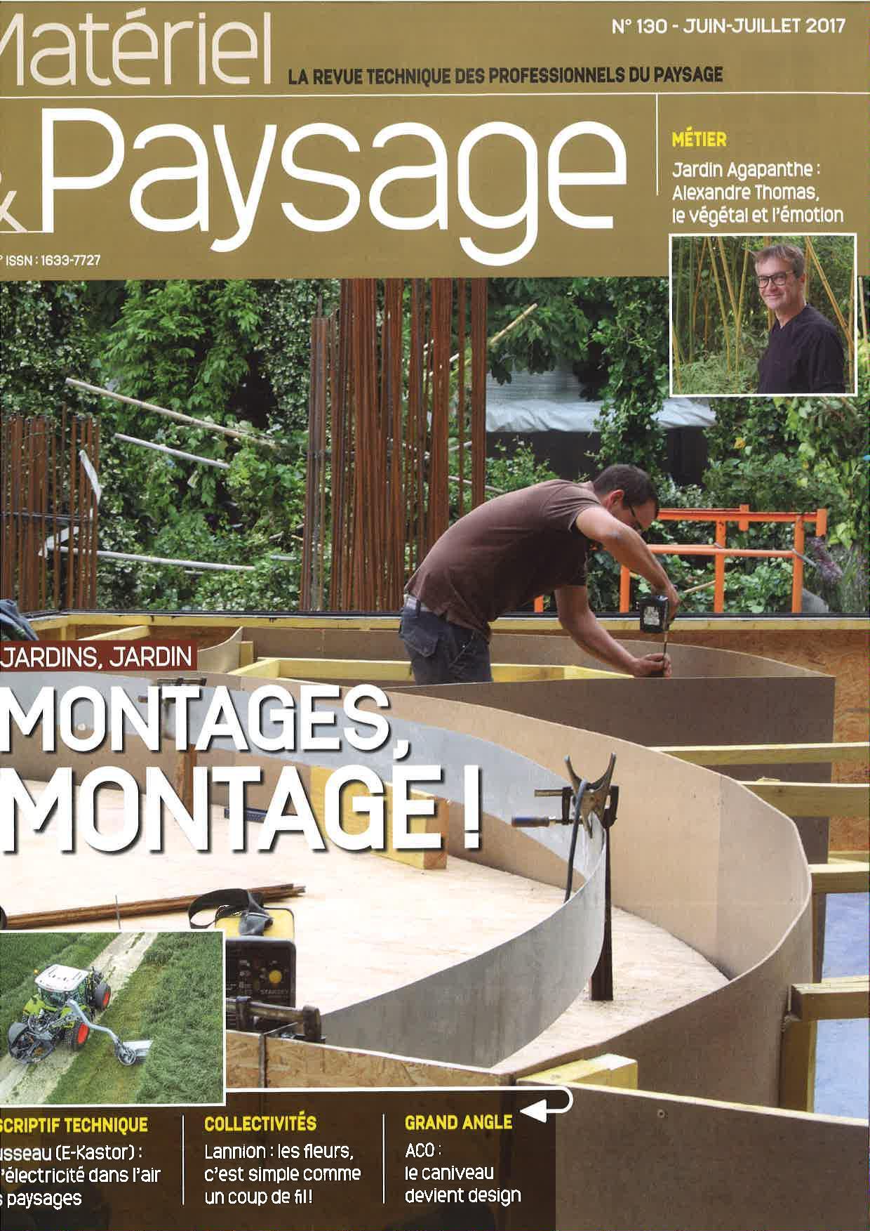 Merci au magazine mat riel paysage de juin juillet pour for Materiel et paysage