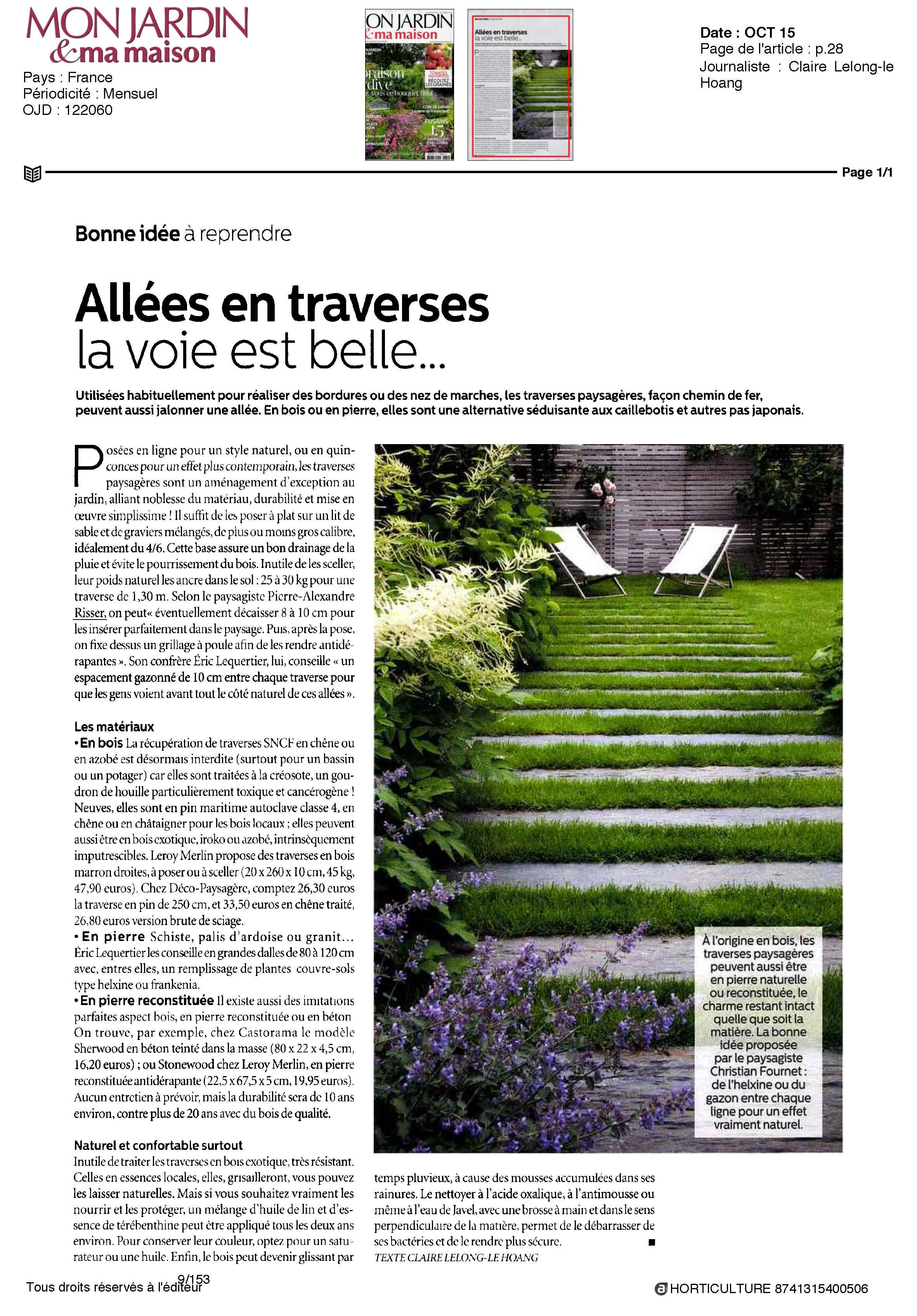 Revue de presse horticulture et jardins for Revue de www houseplans com